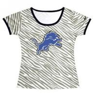 Women's Detroit Lions Sideline Legend Authentic Logo Zebra Stripes T-shirt