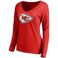 Women's Kansas City Chiefs Pro Line Primary Team Logo Slim Fit Long Sleeve T-Shirt Red