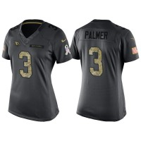 Women's Nike Arizona Cardinals #3 Carson Palmer Anthracite Stitched NFL Limited 2016 Salute to Service Jersey