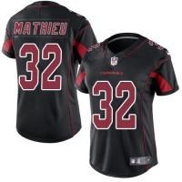 Women's Nike Arizona Cardinals #32 Tyrann Mathieu Black Stitched NFL Limited Rush Jersey
