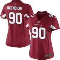 Women's Nike Arizona Cardinals #90 Robert Nkemdiche Limited Red Team Color NFL Jersey