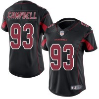 Women's Nike Arizona Cardinals #93 Calais Campbell Black Stitched NFL Limited Rush Jersey