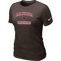 Women's Nike Arizona Cardinals Heart & Soul NFL T-Shirt Brown