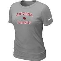 Women's Nike Arizona Cardinals Heart & Soul NFL T-Shirt Light Grey