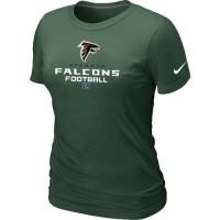 Women's Nike Atlanta Falcons Critical Victory NFL T-Shirt Dark Green
