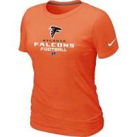 Women's Nike Atlanta Falcons Critical Victory NFL T-Shirt Orange