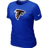 Women's Nike Atlanta Falcons Logo NFL T-Shirt Blue
