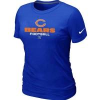 Women's Nike Chicago Bears Critical Victory NFL T-Shirt Blue