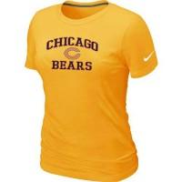 Women's Nike Chicago Bears Heart & Soul NFL T-Shirt Yellow