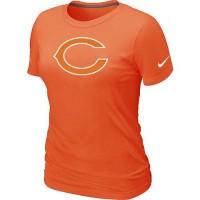 Women's Nike Chicago Bears Logo NFL T-Shirt Orange