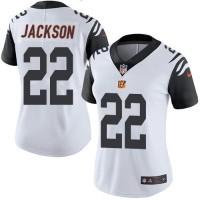 Women's Nike Cincinnati Bengals #22 William Jackson White Stitched NFL Limited Rush Jersey