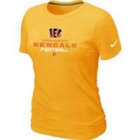 Women's Nike Cincinnati Bengals Critical Victory NFL T-Shirt Yellow