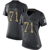 Women's Nike Dallas Cowboys #71 La'el Collins Anthracite Stitched NFL Limited 2016 Salute to Service Jersey