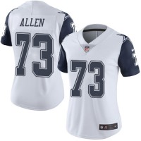 Women's Nike Dallas Cowboys #73 Larry Allen White Stitched NFL Limited Rush Jersey