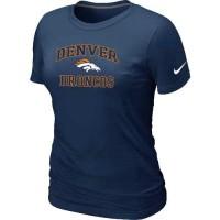 Women's Nike Denver Broncos Heart & Soul NFL T-Shirt Dark Blue