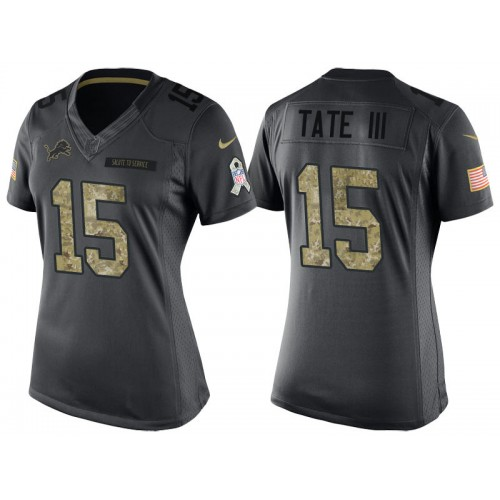 hot sale online 33bb5 aecc0 Women's Nike Detroit Lions #15 Golden Tate III Anthracite ...