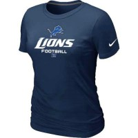 Women's Nike Detroit Lions Critical Victory NFL T-Shirt Dark Blue