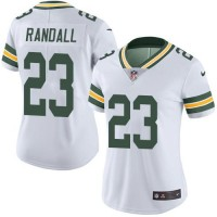 Women's Nike Green Bay Packers #23 Damarious Randall White Stitched NFL Limited Rush Jersey
