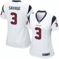 Women's Nike Houston Texans #3 Tom Savage White Stitched NFL Elite Jersey