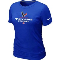 Women's Nike Houston Texans Critical Victory NFL T-Shirt Blue