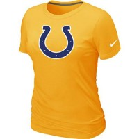 Women's Nike Indianapolis Colts Logo NFL T-Shirt Yellow