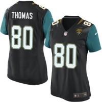 Women's Nike Jacksonville Jaguars #80 Julius Thomas Black Alternate Stitched NFL Elite Jersey