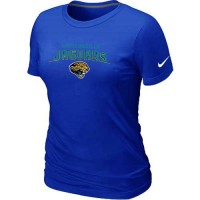 Women's Nike Jacksonville Jaguars Heart & Soul NFL T-Shirt Blue
