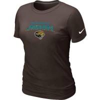 Women's Nike Jacksonville Jaguars Heart & Soul NFL T-Shirt Brown