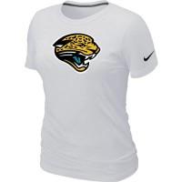 Women's Nike Jacksonville Jaguars Logo NFL T-Shirt White
