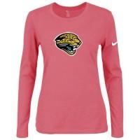 Women's Nike Jacksonville Jaguars Of The City Long Sleeve Tri-Blend NFL T-Shirt Pink