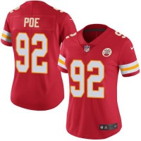 Women's Nike Kansas City Chiefs #92 Dontari Poe Red Stitched NFL Limited Rush Jersey