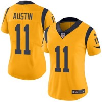 Women's Nike Los Angeles Rams #11 Tavon Austin Gold Stitched NFL Limited Rush Jersey