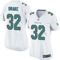 Women's Nike Miami Dolphins #32 Kenyan Drake Elite White NFL Jersey