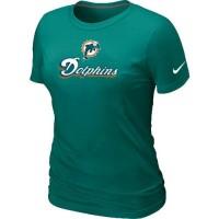 Women's Nike Miami Dolphins Authentic Logo T-Shirt Green