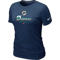 Women's Nike Miami Dolphins Critical Victory NFL T-Shirt Dark Blue