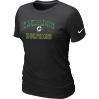 Women's Nike Miami Dolphins Heart & Soul NFL T-Shirt Black