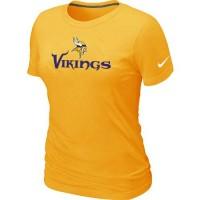 Women's Nike Minnesota Vikings Authentic Logo T-Shirt Yellow