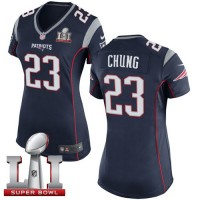 Women's Nike New England Patriots #23 Patrick Chung Navy Blue Team Color Super Bowl LI 51 Stitched NFL New Elite Jersey