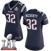 Women's Nike New England Patriots #32 Devin McCourty Navy Blue Team Color Super Bowl LI 51 Stitched NFL New Elite Jersey