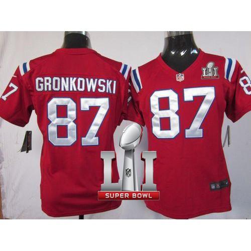 Women s Nike New England Patriots  87 Rob Gronkowski Red Alternate Super  Bowl LI 51 Stitched NFL ... e3436e5e0