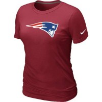 Women's Nike New England Patriots Logo NFL T-Shirt Red