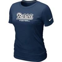 Women's Nike New England Patriots Sideline Legend Authentic Font T-Shirt D.Blue