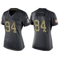 Women's Nike New Orleans Saints #94 Cameron Jordan Anthracite Stitched NFL Limited 2016 Salute to Service Jersey