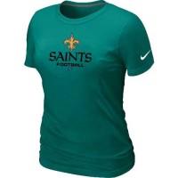 Women's Nike New Orleans Saints Critical Victory NFL T-Shirt Light Green