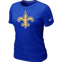 Women's Nike New Orleans Saints Logo NFL T-Shirt Blue