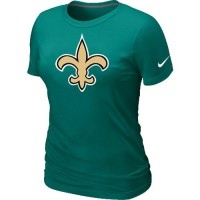 Women's Nike New Orleans Saints Logo NFL T-Shirt Light Green