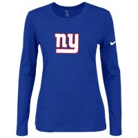 Women's Nike New York Giants Of The City Long Sleeve Tri-Blend NFL T-Shirt Blue