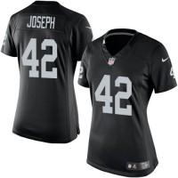 Women's Nike Oakland Raiders #42 Karl Joseph Limited Black Team Color NFL Jersey