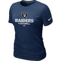 Women's Nike Oakland Raiders Critical Victory NFL T-Shirt Dark Blue