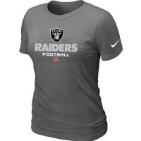 Women's Nike Oakland Raiders Critical Victory NFL T-Shirt Dark Grey